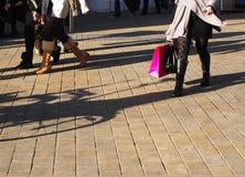 Besetztes Einkaufen Stockfoto