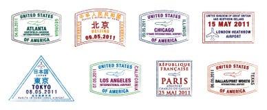 Besetztste Flughäfen der Welt lizenzfreie abbildung