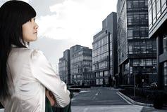 Besetzungsfrau in China. Lizenzfreie Stockfotos