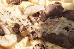 Beshbarmak: Tradycyjna mięsna azjatykcia kuchnia zdjęcia stock