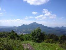 Beshtau. View of mount Beshtau from mount Mashuk Royalty Free Stock Images