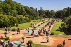 Besichtigen Sie die Gärten von Serralves-Haus stockbild