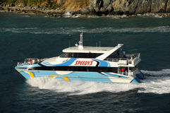 Besichtigenboot in Tortola, das Karibische Meer Lizenzfreies Stockfoto
