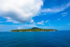 Besichtigende kleine Insel Stockfoto