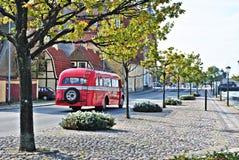 Besichtigender roter Bus Lizenzfreie Stockfotografie