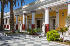 Besichtigung in Korfu/in Griechenland: Schloss der Kaiserin Elisabeth II von Stockfoto