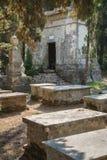 Besichtigung in Korfu-Stadt: altes und altes b des interessanten Platzes - Stockbilder