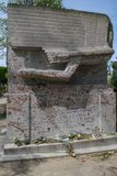 Besichtigung von Paris Gehen um altes Paris Grab von Berühmtheiten in Pere Lachaise Cemetery stockbild