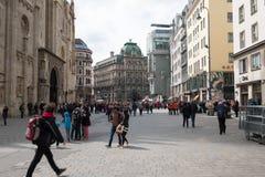 Besichtigung in Wien Stockbild