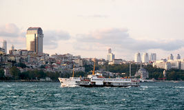 Besiktas on Bosporus Royalty Free Stock Photos