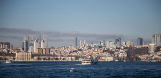 Besiktas District in European side of Istanbul Stock Images