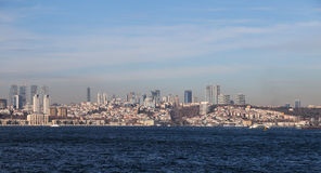 Besiktas District in European side of Istanbul City Royalty Free Stock Photography