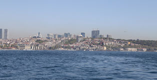 Besiktas district in Istanbul city Royalty Free Stock Photos