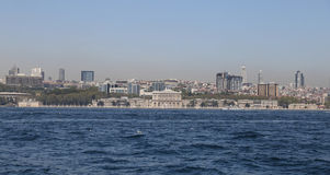 Besiktas district in Istanbul city Royalty Free Stock Photography