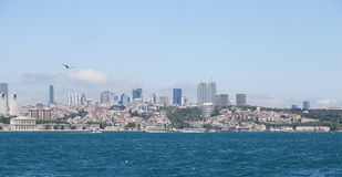 Besiktas District in Istanbul City Royalty Free Stock Image