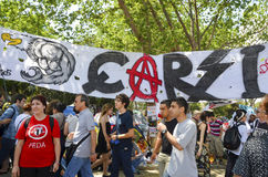 Besiktas fan group who support Gezi Park protest poster's Bazaar Stock Images