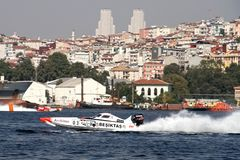 BESIKTAS-hastighetsfartyg Arkivbilder
