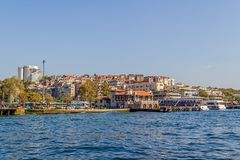Besiktas Iskelesi Costantinopoli Immagine Stock