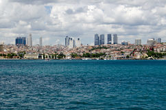 Besiktas, Istanbul viewed from the Bosphorus Stock Images