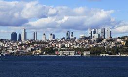 Besiktas laterales europeos de Estambul y hotel ciragan del palacio Imagen de archivo