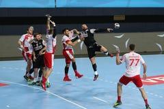 Besiktas MOGAZ HT and Dinamo Bucuresti Handball Match Royalty Free Stock Images