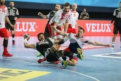 Besiktas MOGAZ HT and Dinamo Bucuresti Handball Match Stock Photos