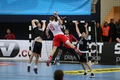 Besiktas MOGAZ HT and Dinamo Bucuresti Handball Match Royalty Free Stock Photo