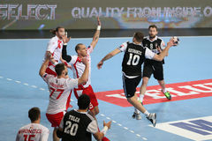 Besiktas MOGAZ HT and Dinamo Bucuresti Handball Match Stock Photo