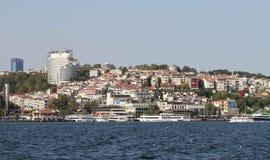 Besiktas okręg w Istanbuł mieście Zdjęcia Stock