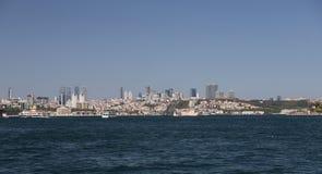 Besiktas område i den Istanbul staden Royaltyfri Foto