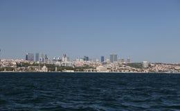 Besiktas område i den Istanbul staden Arkivbild