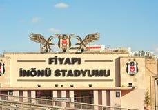 Besiktas stadium fasada, Istanbuł, Turcja zdjęcia stock