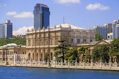 Besiktaskustlijn, Dolmabahce, Istanboel Royalty-vrije Stock Foto