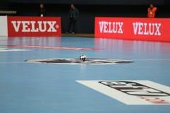 Besiktasmogaz HT en het Handbalgelijke van Dinamo Bucuresti Stock Fotografie