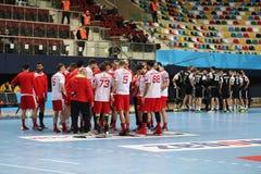 Besiktasmogaz HT en het Handbalgelijke van Dinamo Bucuresti Royalty-vrije Stock Afbeeldingen