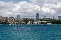 Besiktasstadion van Bosphorus, Istanboel wordt bekeken dat Royalty-vrije Stock Afbeelding