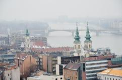 Beskåda av Budapest Arkivfoto