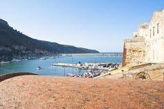 Beskåda av Castellammare del Golfo Arkivbilder