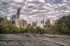 Beskåda av Central Park, New York City Arkivbilder