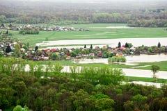 Beskåda av den ryska byn Arkivfoton