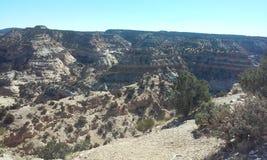 Beskåda av det Utah berg Arkivfoto