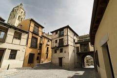 Gammal Town. Segovia Arkivfoton