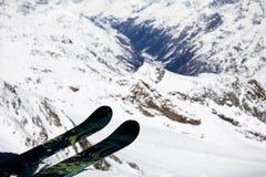 Freeride skier Arkivbilder