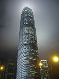 Skyskrapa i misten Royaltyfri Foto