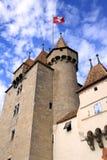 Gammalt slott, Aigle, Vaud, Schweitz Royaltyfria Foton