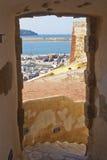 Beskåda av hamnen på Castellammare del Golfo Royaltyfri Fotografi