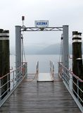 Beskåda av laken Maggiore i Ascona Royaltyfri Foto