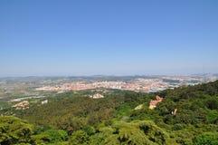 Beskåda av Lisbon från över Arkivfoto