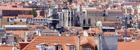 Beskåda av Lisbon från kullen Fotografering för Bildbyråer