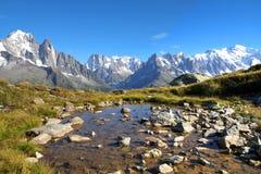 Mont Blanc Frankrike Arkivbilder